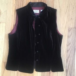 Chocolate brown velvet vest